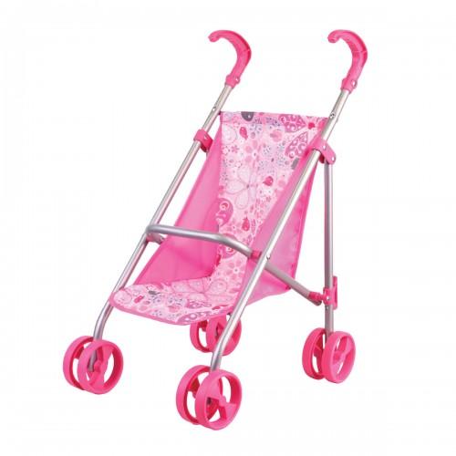 Коляска прогулочная розовая (классическая) Gulliver