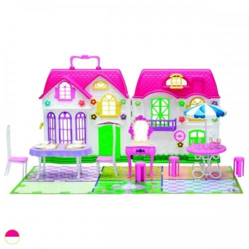 Красотка дом для кукол с мебелью 29 дет 1TOY