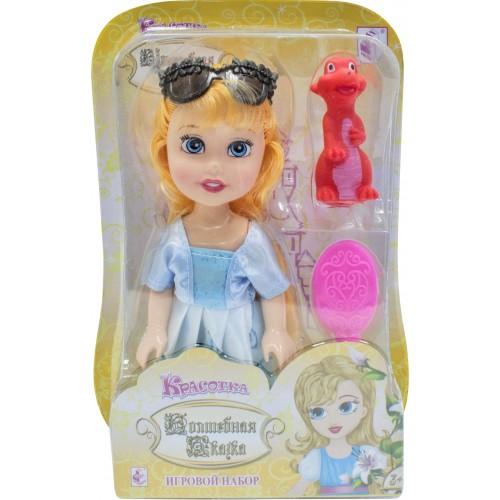 """Красотка кукла """"Волшебная Сказка"""" 15 см дракончиком очками, расческой"""