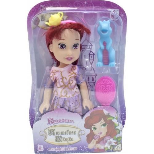 """Красотка кукла """"Волшебная Сказка""""15 см с дракончиком, ободком"""