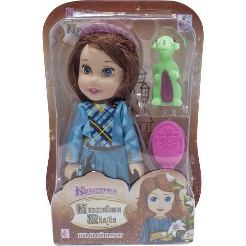 """Красотка кукла """"Волшебная Сказка"""" 15 см с дракончиком, шляпкой"""