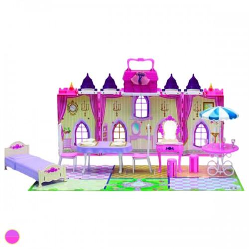 """Красотка замок для кукол """"Колокольчик"""" с мебелью 29 дет 1TOY"""