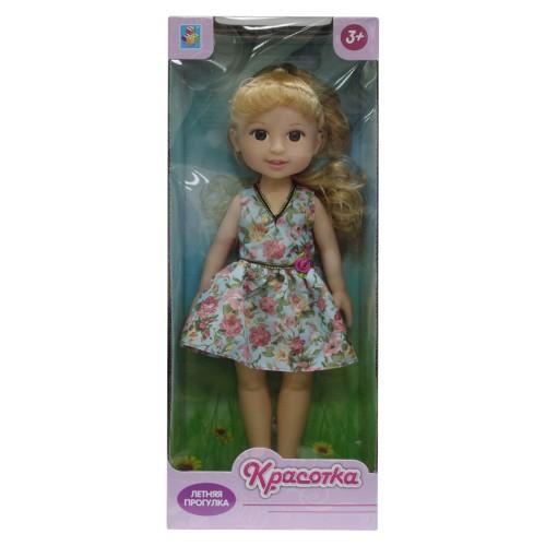 Кукла Красотка Летняя прогулка блондинка голубое платье