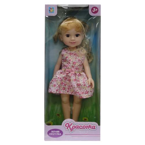 Кукла Красотка Летняя прогулка блондинка розовое платье