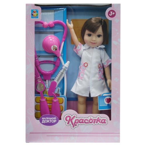 Кукла Красотка Маленький Доктор брюнетка