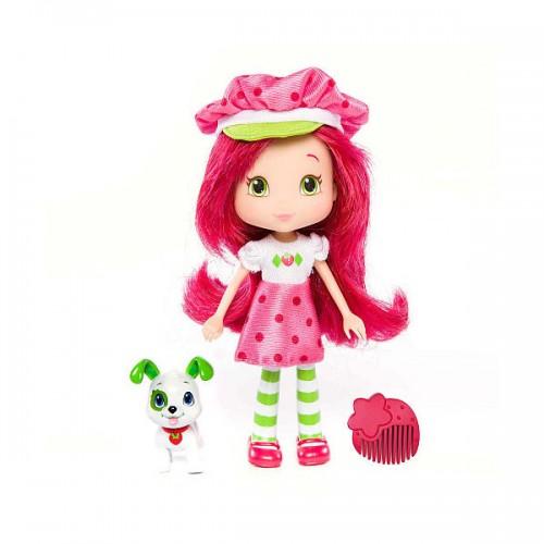 Шарлотта Земляничка Кукла Земляничка с питомцем, 15 см (Strawberry Shortcake)