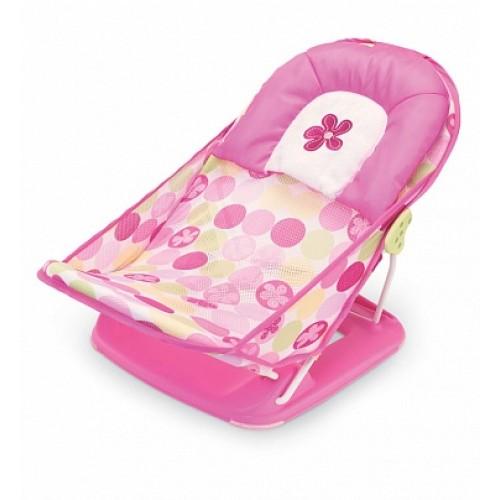 Лежак с подголовником для купания Deluxe Baby Bather, розовый Summer Infant