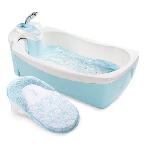 Детская ванна с душевым краником Lil'Luxuries, голубая Summer Infant