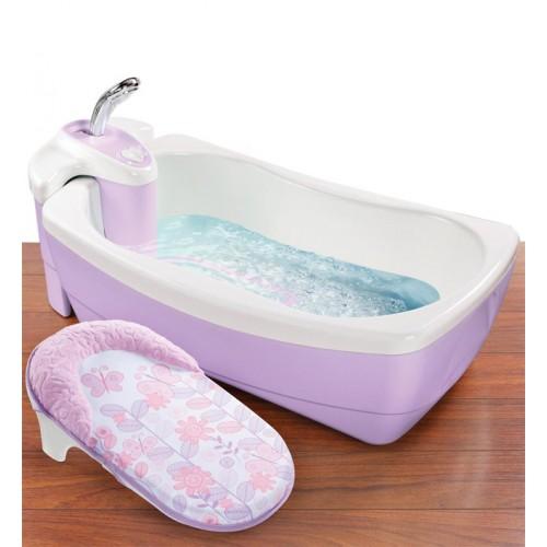 Детская ванна с душевым краником Lil'Luxuries, сиреневая Summer Infant