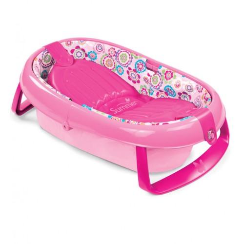 Детская ванна складная Easy Store, розовая Summer Infant