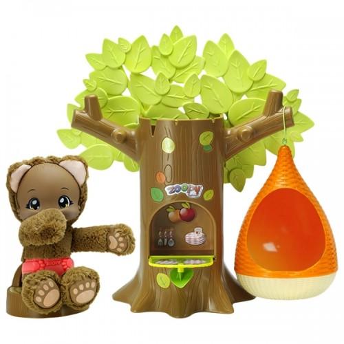 Набор дерево с гнездом и Мишкой 23 см Zoopy Baobab