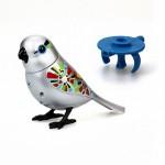 Серебряная птичка с кольцом DigiBirds