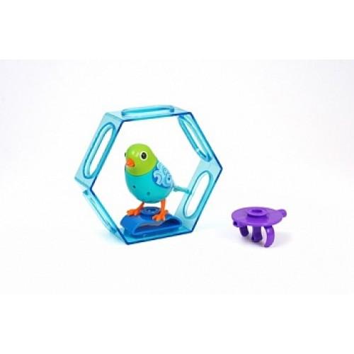 Птица с клеткой с подставкой и кольцом DigiBirds 88023S