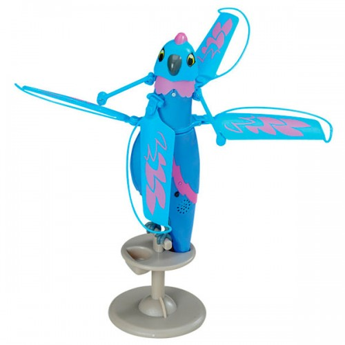 Интерактивная, летающая птичка (Синяя) Zippi Pets