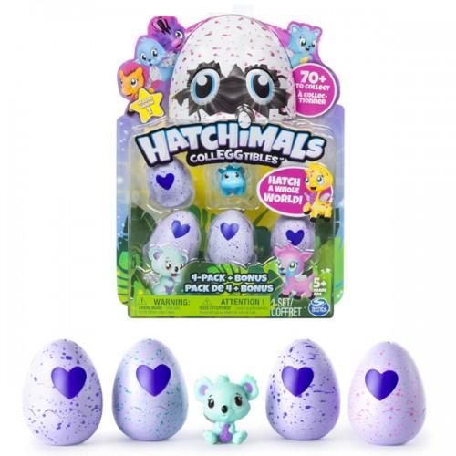 Коллекционная фигурка 4 штуки + бонус Hatchimals