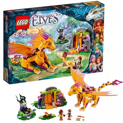 Лего Эльфы Лавовая пещера дракона огня Lego (Лего)