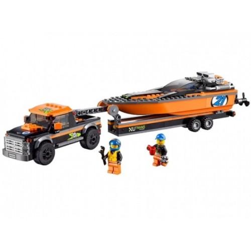 Внедорожник 4x4 с гоночным катером Lego 60085