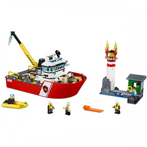 Лего Город Пожарный катер Lego (Лего)