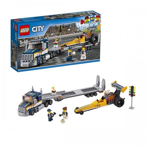 Город Грузовик для перевозки драгстера Lego Лего