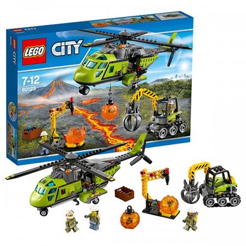 Город Грузовой вертолёт исследователей вулканов  Lego (Лего)