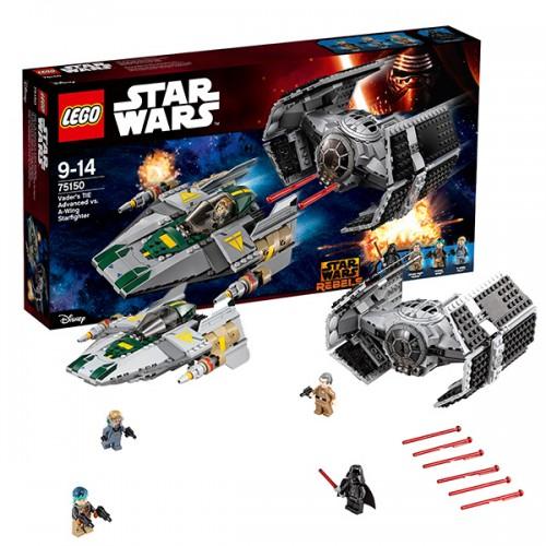 Звездные войны Усовершенствованный истребитель СИД Дарта Вейдера против Звёздного Истребителя A-Wing  Lego (Лего)