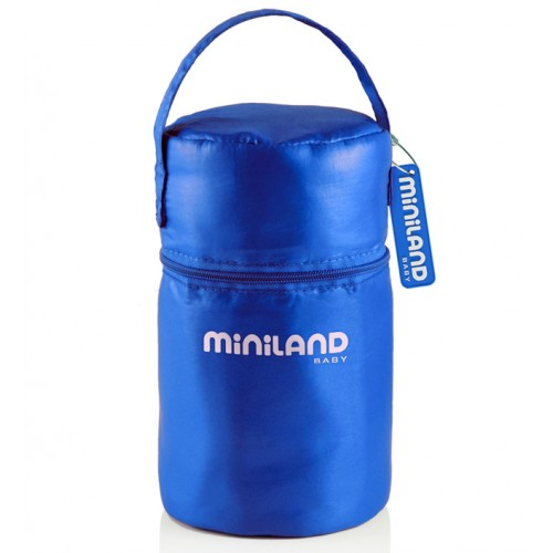 Термосумка Pack-2-Go HermifSized, синяя с 2 мерными стаканчиками Miniland (Миниленд)