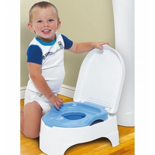 Горшок-подножка (2 в 1) My Fun Potty, голубой Summer Infant