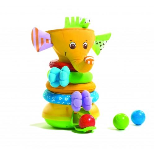 """Музыкальная пирамидка с шариками """"Слоник"""" Тини Лав Tiny Love 1502106830"""
