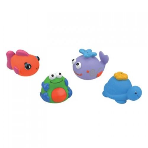 Набор для ванны из 4-х игрушек (черепашка, кит, рыбка, лягушка) KS Kids KA582