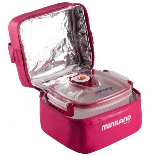 Термосумка Pack-2-Go HermifFresh, розовая с 2 вакуумными контейнерами Miniland (Миниленд)