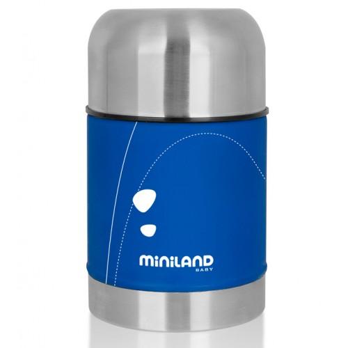 Детский термос для еды Soft Thermo Food 600 мл, синий, Miniland (Миниленд)