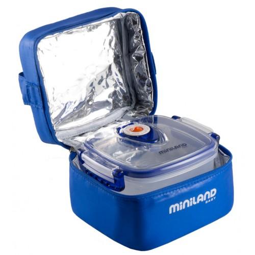 Термосумка Pack-2-Go HermifFresh, синяя с 2 вакуумными контейнерами Miniland (Миниленд)