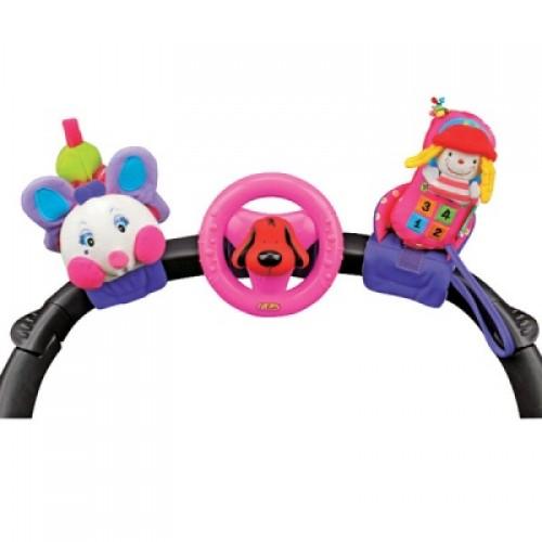 Набор развивающих игрушек для коляски: гусеничка, руль, телефон KS Kids KA581