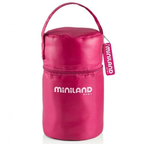 Термосумка Pack-2-Go HermifSized, розовая с 2 мерными стаканчиками Miniland (Миниленд)