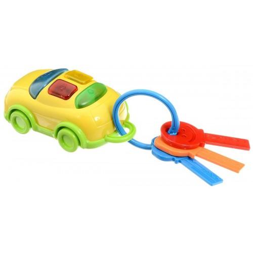 Автоключики с машинкой желтые 1TOY