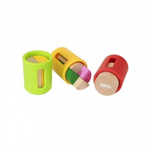 Игровой набор с деревянными формочками-сортерами 10 деталей Brio