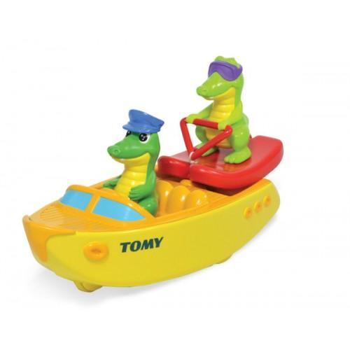 """Игрушка для ванны """"Крокодил на водных лыжах"""" Tomy"""