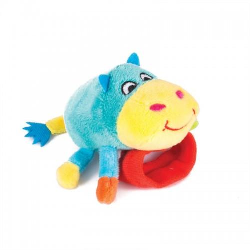 "Игрушка-погремушка на ручку ""Бегемот Бубба"" Happy Snail"