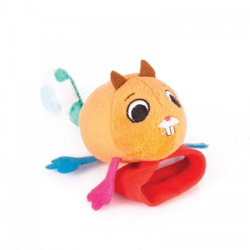 "Игрушка-Погремушка на ручку ""Бельчонок Хруми"" Happy Snail"