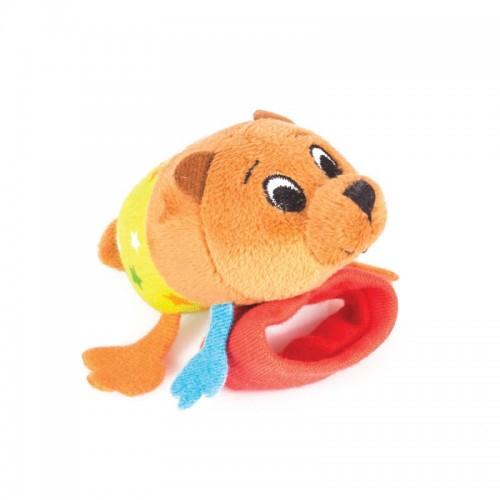 "Игрушка -погремушка на ручку ""Медвежонок Берни"" Happy Snail"