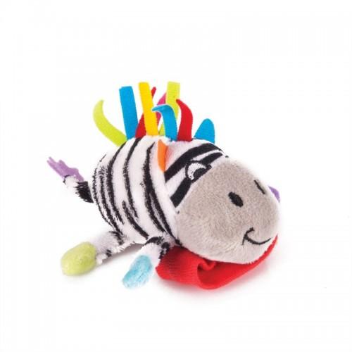 """Игрушка-погремушка на ручку """"Зебра Фру-Фру"""" Happy Snail"""