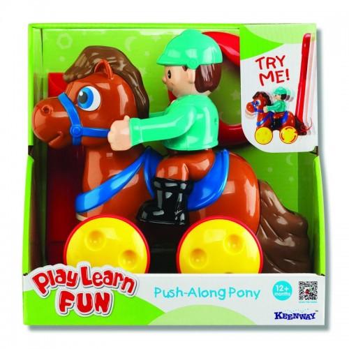 """Каталка """"Жокей на лошадке"""" (коричневая) Keenway"""