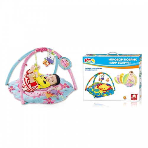 "Развивающий коврик ""Мир вокруг нас - розовый"" Bambini S+S Toys"