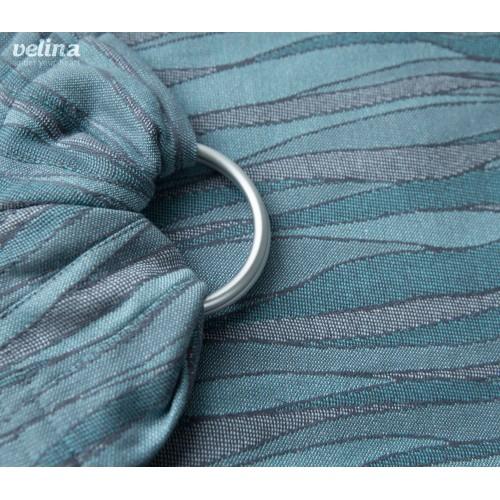 Слинг-шарф с кольцами жаккардовый волны мятные Velina