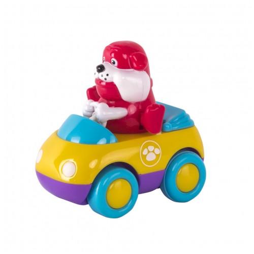 Зверушки на колесиках (2 шт/уп): обезьянка+бульдог Hap-p-Kid