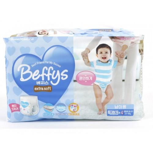 Extra soft трусики-подгузники для мальчиков размер XL 13-18 кг./32 шт. Beffy's (Беффис)