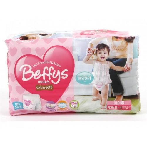 Extra soft трусики-подгузники для девочек размер XL 13-18 кг./32 шт. Beffy's (Беффис)