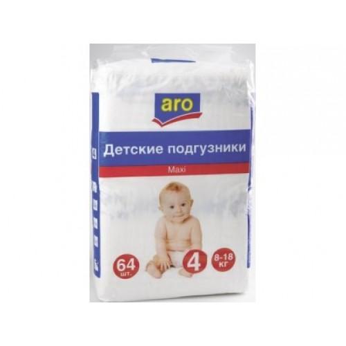 Подгузники Aro (Аро) maxi 4 (8-18кг), 64шт