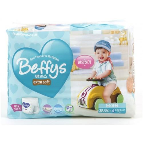 Extra soft трусики-подгузники для мальчиков размер более 17 кг. /28 шт. Beffy's (Беффис)