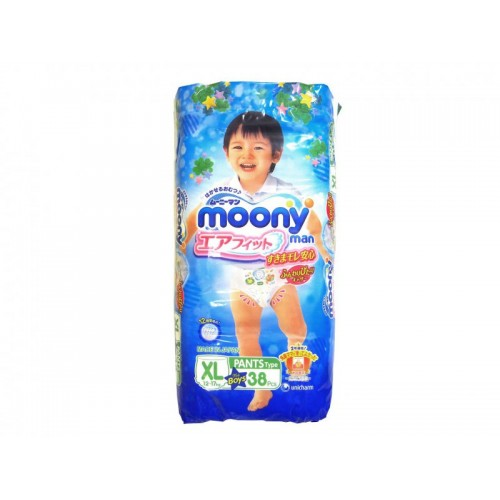 Moonyman трусики для мальчиков XL (12-17 кг.), 38 шт. Moony (Муни)